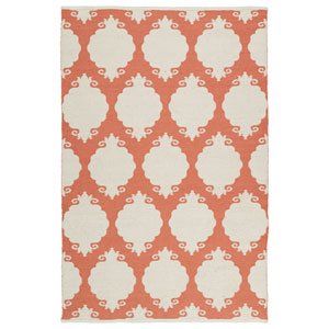 Brisa Ivory and Salmon Rectangular: 2 Ft x 3 Ft Rug