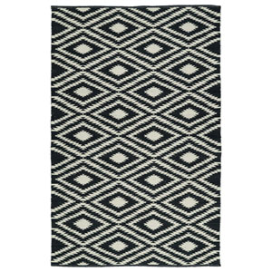 Brisa Black and Ivory Rectangular: 2 Ft x 3 Ft Rug