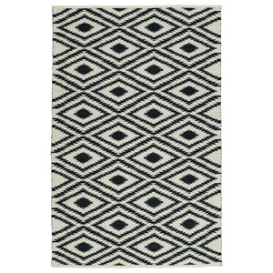Brisa Ivory and Black Rectangular: 2 Ft x 3 Ft Rug