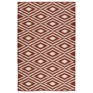 Brisa Brick and Ivory Rectangular: 2 Ft x 3 Ft Rug