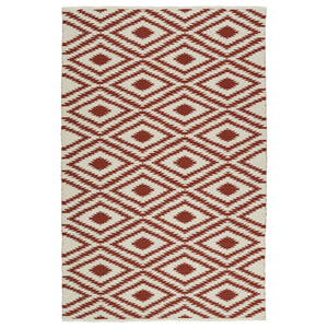 Brisa Ivory and Brick Rectangular: 2 Ft x 3 Ft Rug