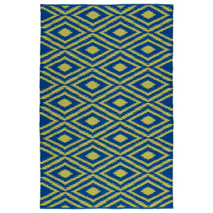 Brisa Navy and Yellow Rectangular: 2 Ft x 3 Ft Rug