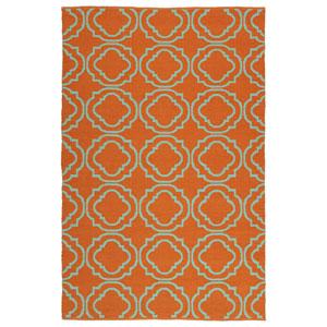 Brisa Orange and Turquoise Rectangular: 5 Ft x 7 Ft 6 In Rug