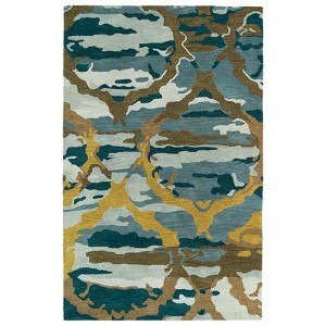 Brushstrokes Blue BRS02 Rectangular: 5 Ft. x 7 Ft. 9 In. Rug