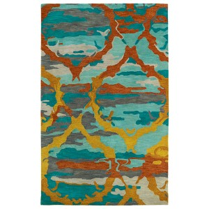 Brushstrokes Teal BRS02 Rectangular: 5 Ft. x 7 Ft. 9 In. Rug