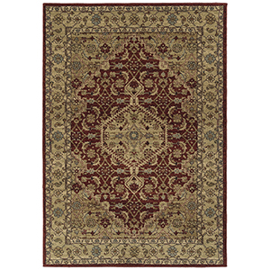 McAlester Burgundy Machine Made 7Ft. 10In x 10Ft. Rectangle Rug