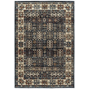 McAlester Blue Machine Made 7Ft. 10In x 10Ft. Rectangle Rug