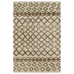 Casablanca Brown and Beige Rectangular: 5 Ft. x 8 Ft. Rug
