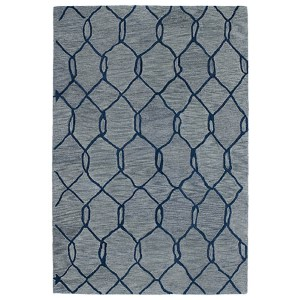 Casablanca Blue and Navy Rectangular: 5 Ft. x 8 Ft. Rug