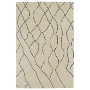 Casablanca Ivory and Sky Blue Rectangular: 5 Ft. x 8 Ft. Rug