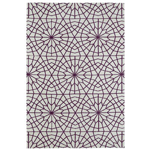 Cozy Toes Purple Rectangular: 2 Ft. x 3 Ft. Rug