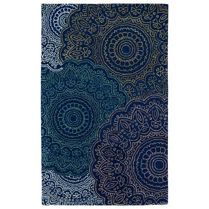 Divine Navy DIV03 Rectangular: 5 Ft. x 7 Ft. 9 In. Rug