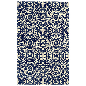Evolution Navy Hand Tufted 7Ft. 9In Square Rug
