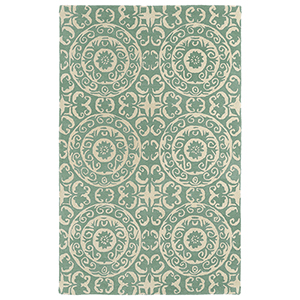Evolution Mint Hand Tufted 9Ft. 9In Square Rug
