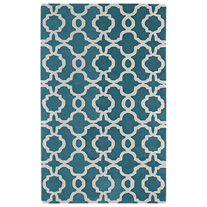 Revolution Teal Hand Tufted 9Ft. 9In Round Rug