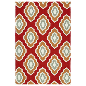 Escape Red and Paprika Rectangular: 2 Ft x 3 Ft Rug