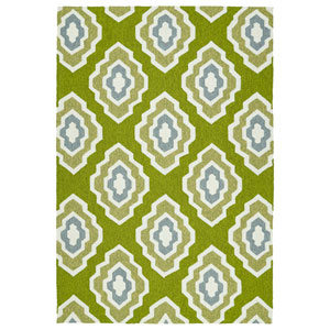 Escape Apple Green and Lime Green Rectangular: 2 Ft x 3 Ft Rug
