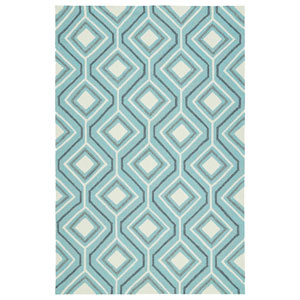 Escape Light Blue and Grey Rectangular: 8 Ft x 10 Ft Rug