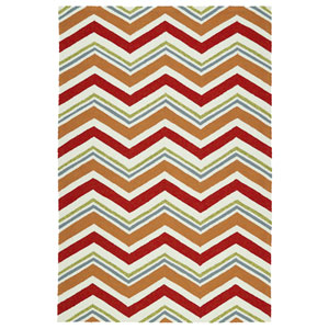 Escape Red and Orange Rectangular: 2 Ft x 3 Ft Rug