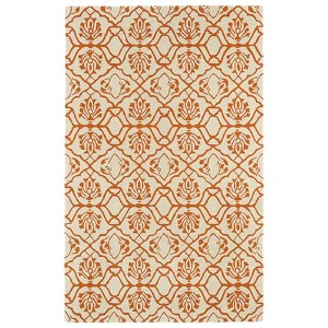 Evolution Orange and Ivory Rectangular: 5 Ft. x 7 Ft. 9 In. Rug