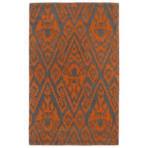 Evolution Orange and Charcoal Rectangular: 5 Ft. x 7 Ft. 9 In. Rug