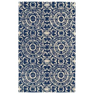 Evolution Navy and Ivory Rectangular: 5 Ft. x 7 Ft. 9 In. Rug