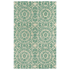 Evolution Mint and Ivory Rectangular: 5 Ft. x 7 Ft. 9 In. Rug