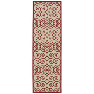A Breath Of Fresh Air Red And Beige Runner 2 Ft 6 In X 7