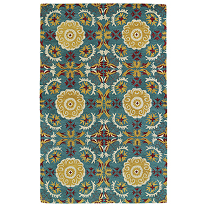 Global Inspirations Turquoise Hand-Tufted 9Ft. x 12Ft. Rectangle Rug