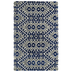 Global Inspirations Blue Hand-Tufted 9Ft. x 12Ft. Rectangle Rug