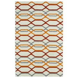 Glam Ivory GLA01 Rectangular: 3 Ft. 6 In. x 5 Ft. 6 In. Rug