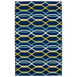 Glam Navy GLA01 Rectangular: 3 Ft. 6 In. x 5 Ft. 6 In. Rug