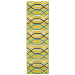 Glam Yellow GLA01 Runner: 2 Ft. 6 In. x 8 Ft. Rug