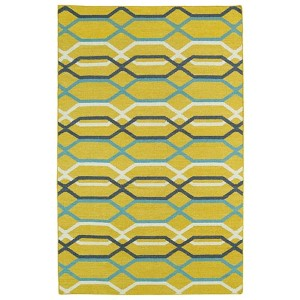 Glam Yellow GLA01 Rectangular: 3 Ft. 6 In. x 5 Ft. 6 In. Rug