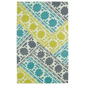 Glam Turquoise GLA02 Rectangular: 5 Ft. x 8 Ft. Rug