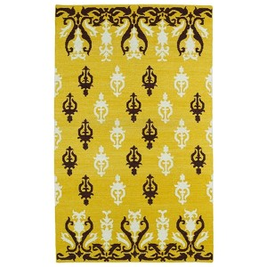 Glam Yellow GLA04 Rectangular: 5 Ft. x 8 Ft. Rug