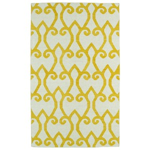 Glam Yellow GLA05 Rectangular: 5 Ft. x 8 Ft. Rug