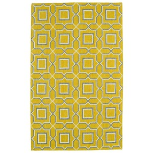 Glam Yellow GLA06 Rectangular: 5 Ft. x 8 Ft. Rug
