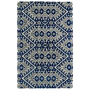 Global Inspirations Blue GLB01 Rectangular: 5 Ft. x 7 Ft. 9 In. Rug