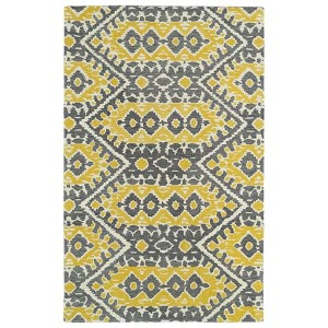 Global Inspirations Yellow GLB01 Rectangular: 5 Ft. x 7 Ft. 9 In. Rug