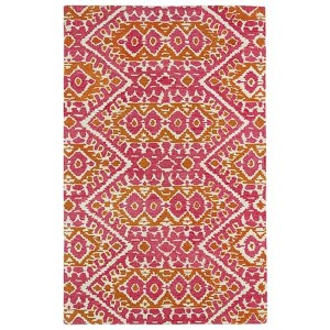 Global Inspirations Pink GLB01 Rectangular: 5 Ft. x 7 Ft. 9 In. Rug
