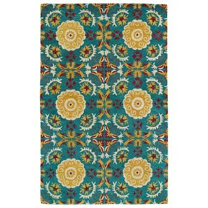 Global Inspirations Turquoise GLB06 Rectangular: 5 Ft. x 7 Ft. 9 In. Rug