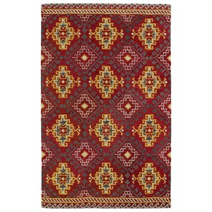 Global Inspirations Red GLB07 Rectangular: 5 Ft. x 7 Ft. 9 In. Rug