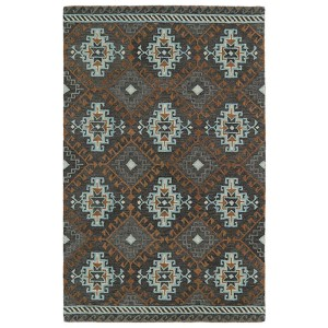 Global Inspirations Grey GLB07 Rectangular: 5 Ft. x 7 Ft. 9 In. Rug