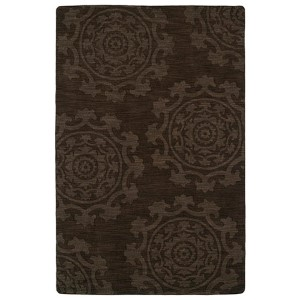 Imprints Classic Chocolate Rectangular: 5 Ft. x 8 Ft. Rug