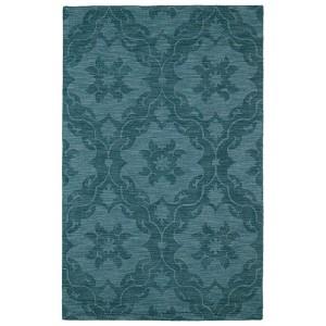Imprints Classic Turquoise Rectangular: 5 Ft. x 8 Ft. Rug