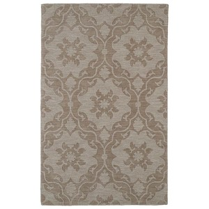 Imprints Classic Light Brown Rectangular: 5 Ft. x 8 Ft. Rug