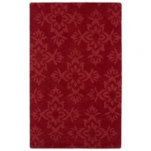 Imprints Classic Red Rectangular: 5 Ft. x 8 Ft. Rug