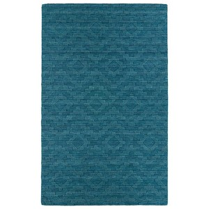 Imprints Modern Turquoise Rectangular: 5 Ft. x 8 Ft. Rug