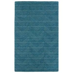 Imprints Modern Turquoise Rectangular: 5 Ft. x 8 Ft. Rug
